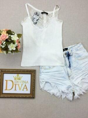 divinadivamodafeminina.com.br regata bordada com renda branca