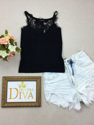 divinadivamodafeminina.com.br regata bordada com renda preta