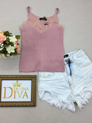 divinadivamodafeminina.com.br regata bordada com renda rosa