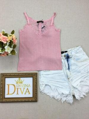 divinadivamodafeminina.com.br regata bordada com renda rosa claro