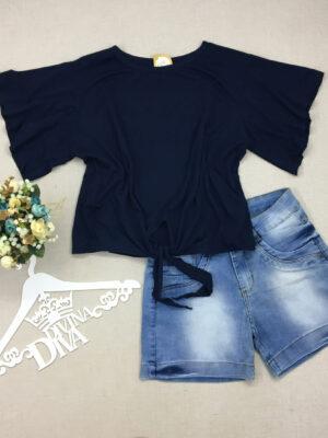divinadivamodafeminina.com.br blusa azul com manga flare e amarracao