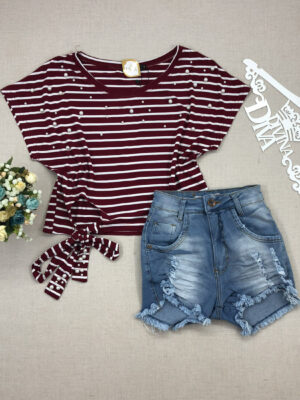 divinadivamodafeminina.com.br blusa listrada vermelha e branca com amarracao