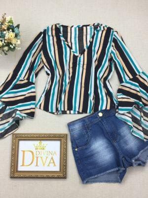divinadivamodafeminina.com.br blusa manga longa flare listrada bege azul