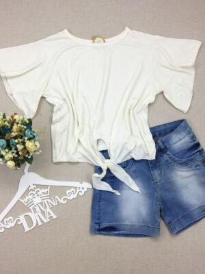 divinadivamodafeminina.com.br blusa off white com manga flare e amarracao