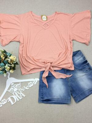 divinadivamodafeminina.com.br blusa rosa com manga flare e amarracao