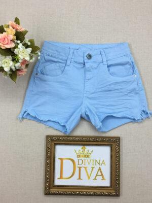 divinadivamodafeminina.com.br shorts jeans azul claro frente franzida