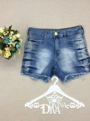 divinadivamodafeminina.com.br shorts jeans azul com barra desfiada