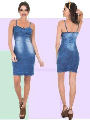 divinadivamodafeminina.com.br vestido jeans azul claro manchado com bojo e alcinha 3