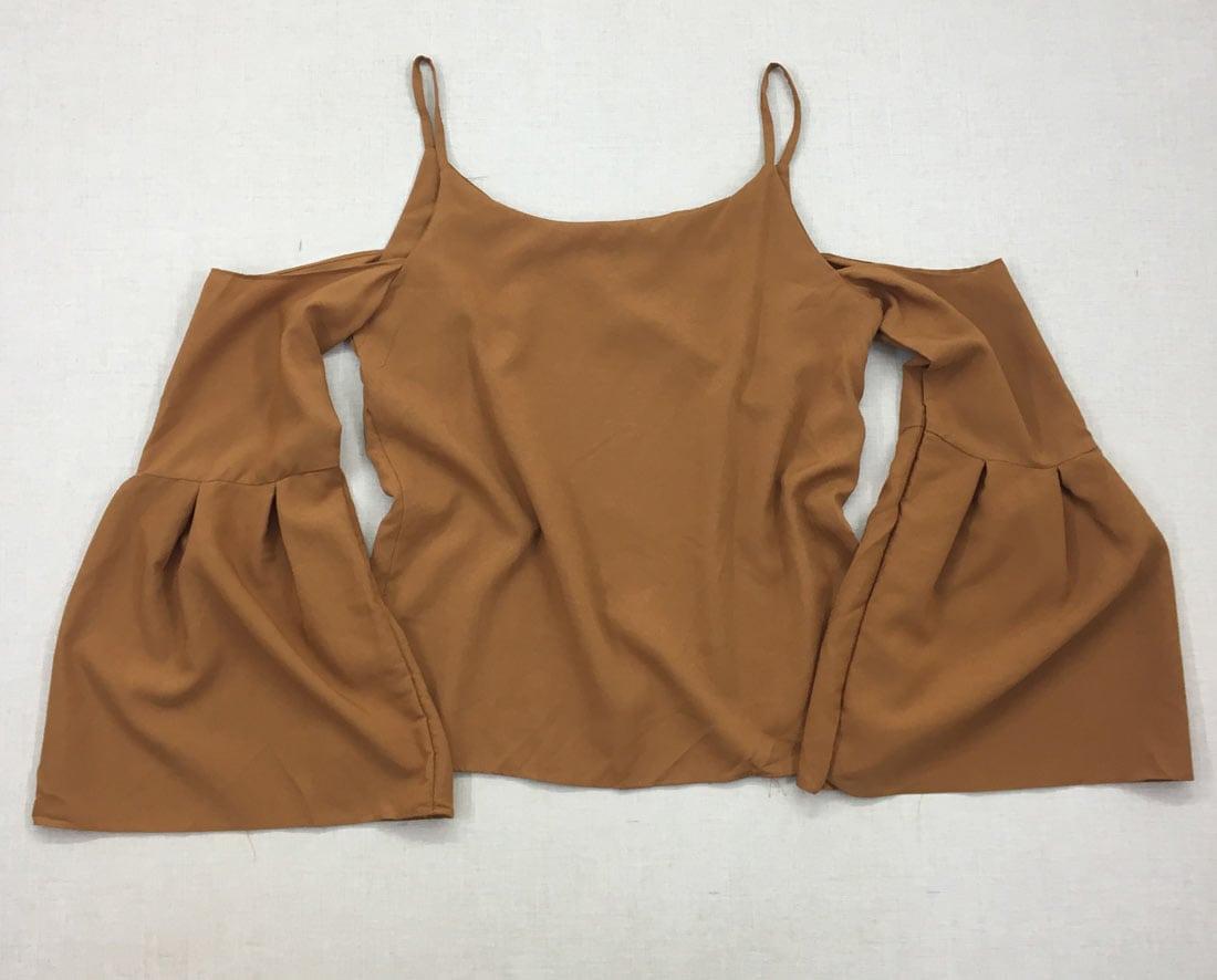 605ba48f00 divinadivamodafeminina.com.br blusa marrom de alcinha com manga flare 1